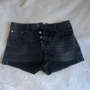 Levi black jean shorts